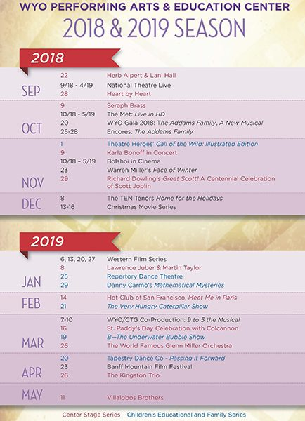 WYO Theater 2018-19 Season