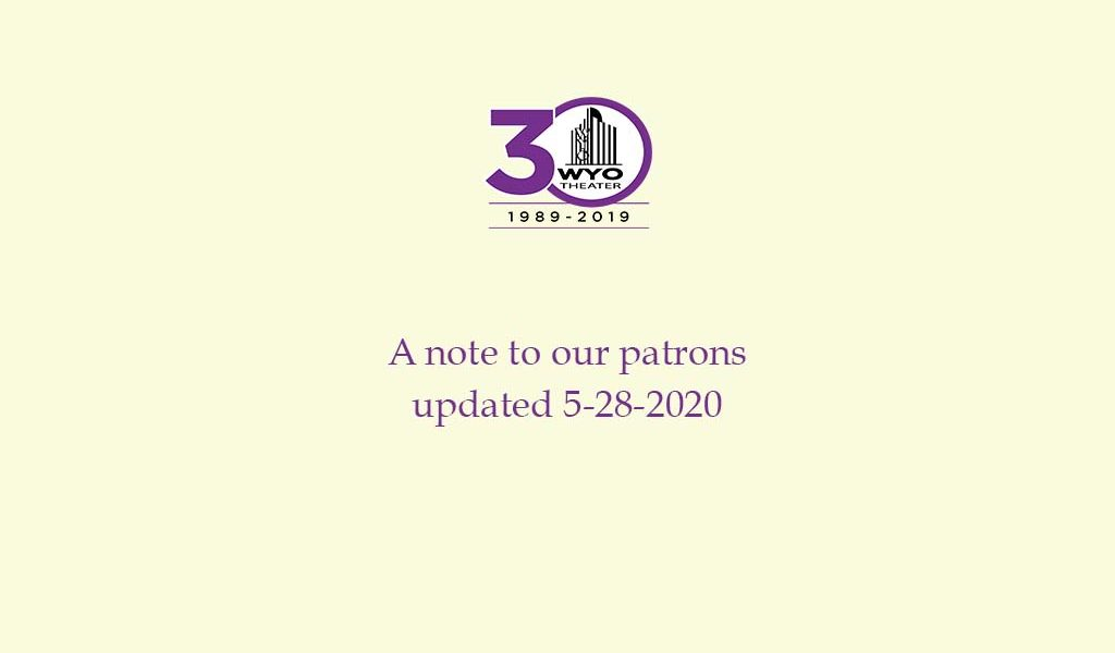 A note to our patrons