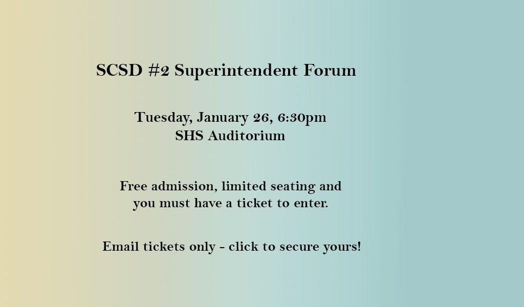 SCSD#2 Superintendent Forum