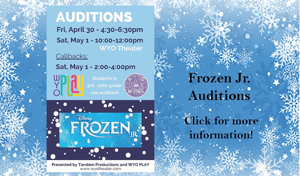 Audition information – Frozen Jr.